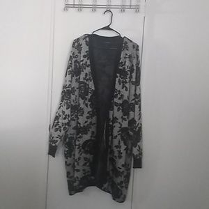 Lane Bryant Floral Sweater/Cardigan, extra long